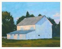 Early light-white barn