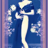 Flapper in Blue Art Prints & Posters by Jacqueline Mauritz