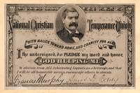 Temperance Pledge Card 1877