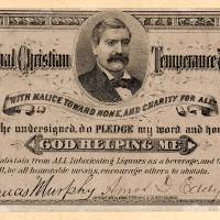 Temperance Pledge Card 1877 Art Prints & Posters by Phil Cardamone