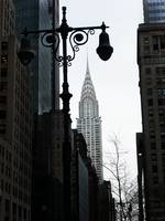 Chrysler Building with streetlight