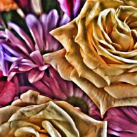Frosted Flowers Art Prints & Posters by Through The Split Window