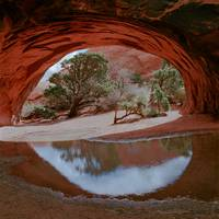 Navajo Arch Reflection