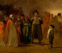 eastman johnson, The Storyteller of the Camp (Mapl