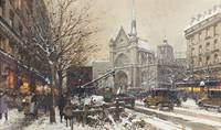 Eugene Galien-Laloue,  Eglise St. Laurent, Paris