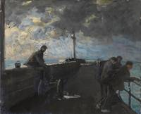 Jacques-Emile Blanche , On the Pier at Dieppe c.19