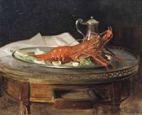 Jacques Emile Blanche , A lobster on a silver salv