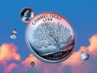 Connecticut State Quarter - Sky Coin 05