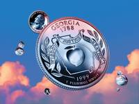 Georgia State Quarter - Sky Coin 04