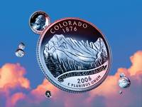 Colorado State Quarter - Sky Coin 38