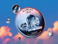 Kansas State Quarter - Sky Coin 34