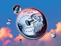 Indiana State Quarter - Sky Coin 19