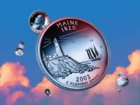 Maine State Quarter - Sky Coin 23