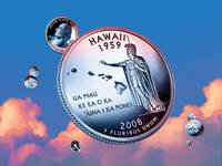Hawaii State Quarter - Sky Coin 50