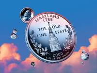 Maryland State Quarter - Sky Coin 07