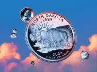 North Dakota State Quarter - Sky Coin 39