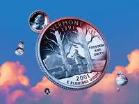 Vermont State Quarter - Sky Coin 14