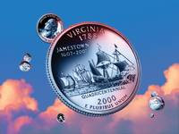 Virginia State Quarter - Sky Coin 10