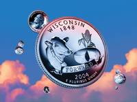 Wisconsin State Quarter - Sky Coin 30