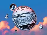 West Virginia State Quarter - Sky Coin 35