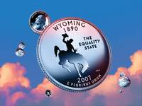 Wyoming State Quarter - Sky Coin 44
