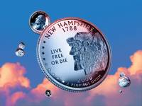 New Hampshire State Quarter - Sky Coin 09