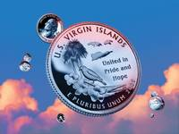 U.S. Virgin Islands Quarter - Sky Coin 55