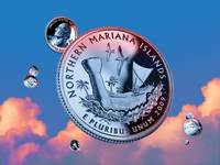 Northern Mariana Islands Quarter - Sky Coin 56