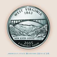 West Virginia State Quarter - Portrait Coin 35