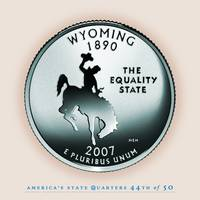 Wyoming State Quarter - Portrait Coin 44