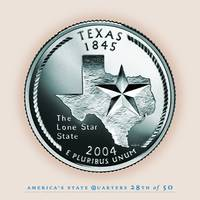 Texas State Quarter - Portrait Coin 28