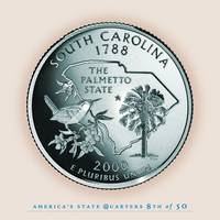 South Carolina State Quarter - Portrait Coin 08