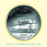 North Carolina State Quarter - Portrait Coin 12