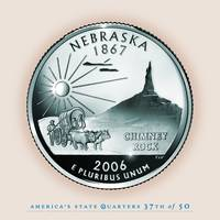Nebraska State Quarter - Portrait Coin 37