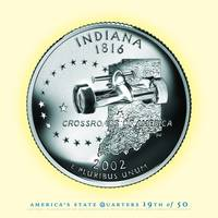 Indiana State Quarter - Portrait Coin 19