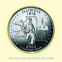 Illinois State Quarter - Portrait Coin 21
