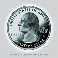 George Washington State Quarter - Portrait Coin 00