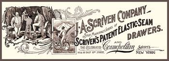 Men's Underwear Scriven's Drawers 1899 Advertiseme