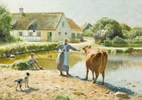 Peder Mork Monsted, The cow refuses to drink