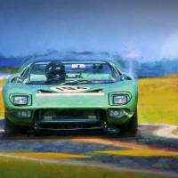 Ford GT40 Targa Florio Roadster Art Prints & Posters by Stuart Row