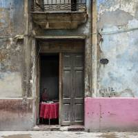 red table, havana Art Prints & Posters by Jody Miller