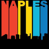 Retro 1970's Style Naples Florida Skyline