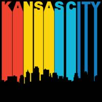 Retro 1970's Style Kansas City Kansas Skyline