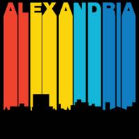 Retro 1970's Style Alexandria Louisiana Skyline