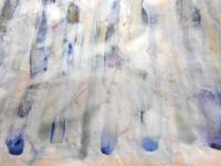 52. Stripped Down Blue and White Abstract Canvas P