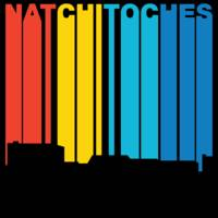 Retro 1970's Style Natchitoches Louisiana Skyline