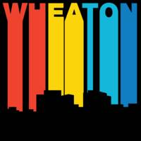 Retro 1970's Style Wheaton Maryland Skyline