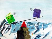 Balance the Books on a Mountaintop See-Saw