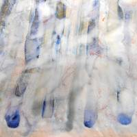 52. v1 Stripped Down Blue and White Abstract Canva