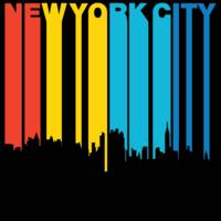 Retro 1970's Style New York City Skyline